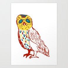 Sugar Skull Owl Art Print