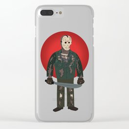 Jason Voorhees Friday the 13th Part 7 Clear iPhone Case