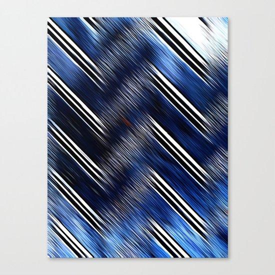 Abstract #Blue #Black #3 #art #society6 Canvas Print