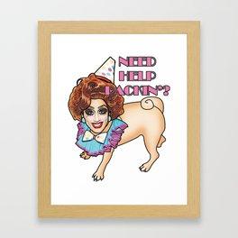Bianca Del Rio - Pug - Need Help Packin'? Framed Art Print