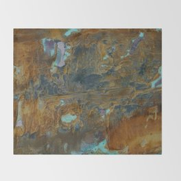 Blue Lagoons in Rusty World Throw Blanket