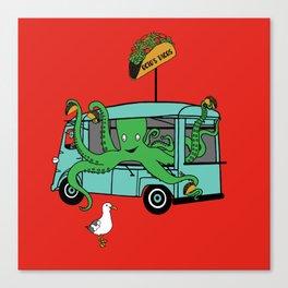 Flock of Gerrys Octo's Taco Cart by Seasons Kaz Sparks Canvas Print