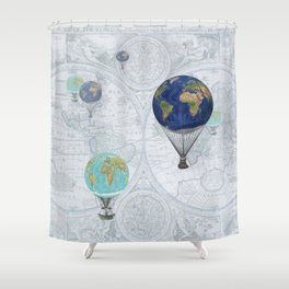 World Flight Shower Curtain