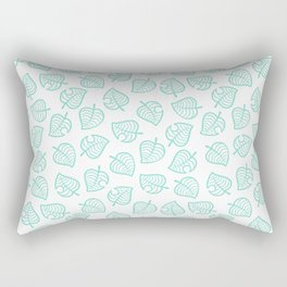 cute ac white leaf pattern fanart tropical  Rectangular Pillow