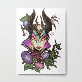 Malefica Glam Metal Print