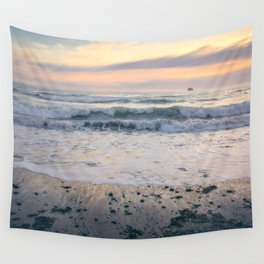 Pacific Waves at Sunset Wall Tapestry