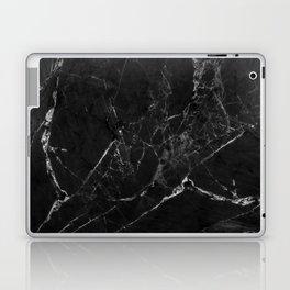 Black Marble Print II Laptop & iPad Skin