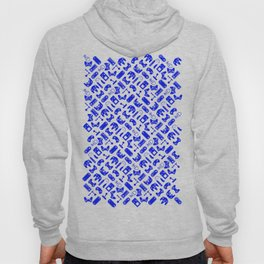 Control Your Game - White on Blue Hoody