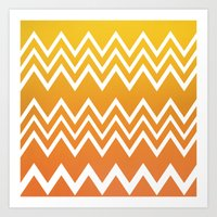 tequila Art Prints featuring Tequila Sunrise by Color and Form