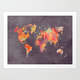 world map 67 Art Print