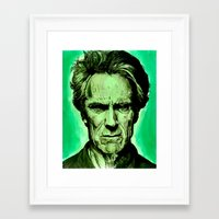 clint eastwood Framed Art Prints featuring Clint Eastwood by Jason Hughes