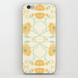 Yellow spring flowers iPhone Skin