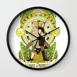 The Prince and the Pauper Wall Clock