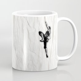Woman Climbing a Wrinkle Coffee Mug