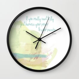 If you really want to fly Wall Clock