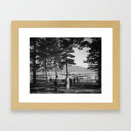 Vintage Lake George: The Sagamore Docks at Green Island Framed Art Print