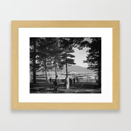 Vintage Lake George: The Sagamore Docks at Green Island Framed Art Print