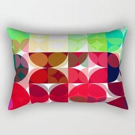 Mixed color Poinsettias 3 Abstract Circles 3 Rectangular Pillow