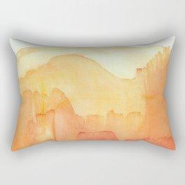 Orange Distance Rectangular Pillow
