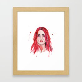 Frances Bean Cobain Framed Art Print