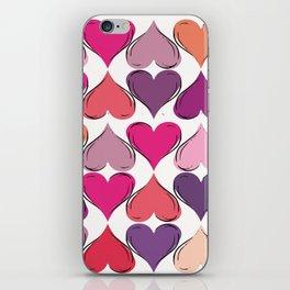 colerfull hearts iPhone Skin