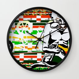 Ghandi and his Spinning Wheel Wall Clock