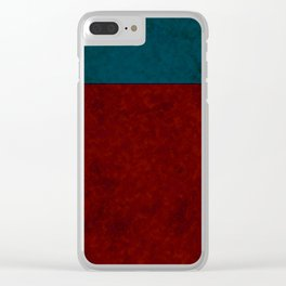 Blue and orange suede Clear iPhone Case