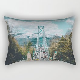 Lions Gate Bridge Rectangular Pillow