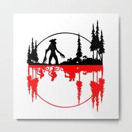 Stay Strange black and red Metal Print