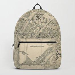 Vintage Map of Copenhagen Denmark (1886) Backpack