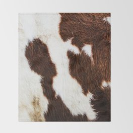 Cowhide Brown Spots Throw Blanket