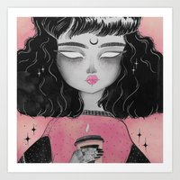 loll3 Art Prints featuring Beverly by lOll3