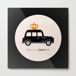 London royal queen cab Metal Print
