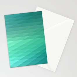 Fig. 043 Mint Green Geometric Diagonal Stripes Stationery Cards