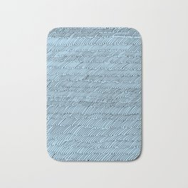 Penstrokes on Blue Bath Mat