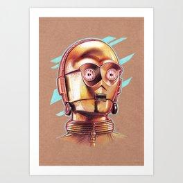 Golden Robot C3PO Art Print