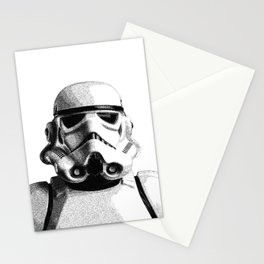 Stormtrooper Dotwork - Pointillism Fan Artwork Stationery Cards