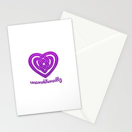UNCONDITIONALLY in purple Stationery Cards