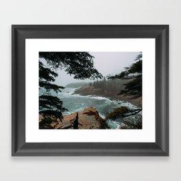 Foggy Morning in Acadia National Park Framed Art Print