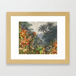 Walking in Paradise original collage by bedelgeuse Framed Art Print