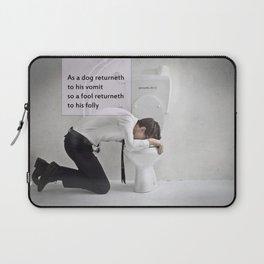 Proverbs 26:11 Laptop Sleeve