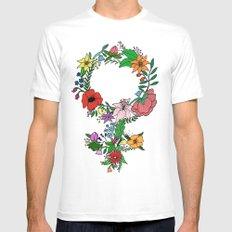 Feminist flower in color White MEDIUM Mens Fitted Tee