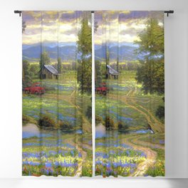 Peacful American Farmers Village Ultra HD Blackout Curtain