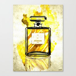Parfum Gold Canvas Print