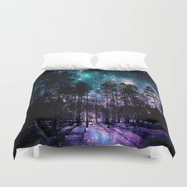 One Magical Night... teal & purple Duvet Cover