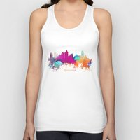 minneapolis Tank Tops featuring Minneapolis skyline watercolor by jbjart