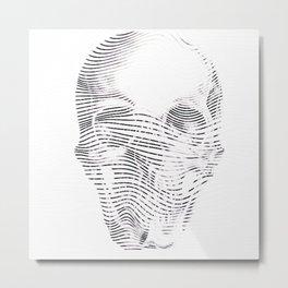 the line death Metal Print