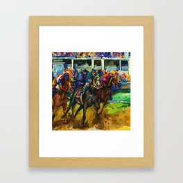 The Race No. 2B by Kathy Morton Stanion Framed Art Print