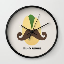 Hello I'm Mustachio Wall Clock
