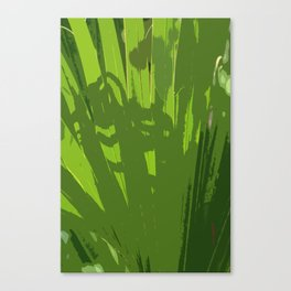 Five Shades  Of Green Canvas Print